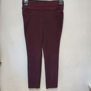Maurices maroon pull on skinny career pant xs